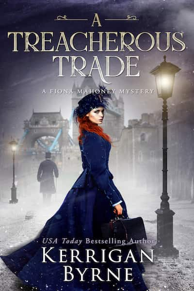 Book cover for A Treacherous Trade by Kerrigan Byrne