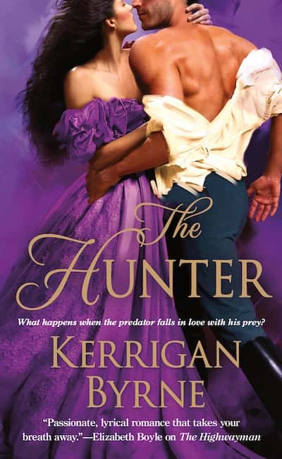 Book cover for The Hunter by Kerrigan Byrne